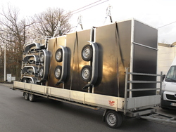 Boxes trailers double axles